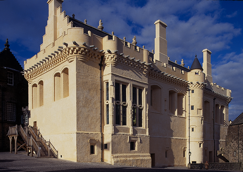Exterior view of the Great Hall at Stirling Castle