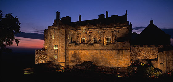 Night view of Stirling Castle
