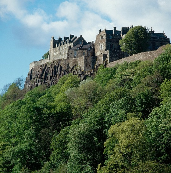 View of the west crags at Stirling Castle.