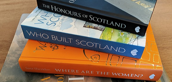 A stack of books all about Stirling Castle