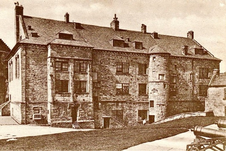 Archive image of Stirling Castle being used by the army