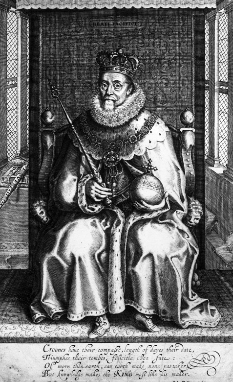 An engraving of James VI