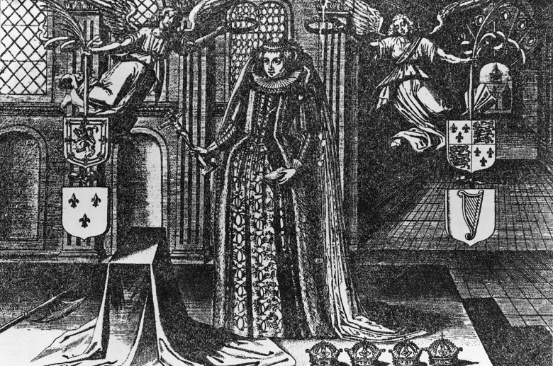 An engraving of Mary Queen of Scots