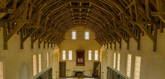The timber roof of Stirling Castle Great Hall