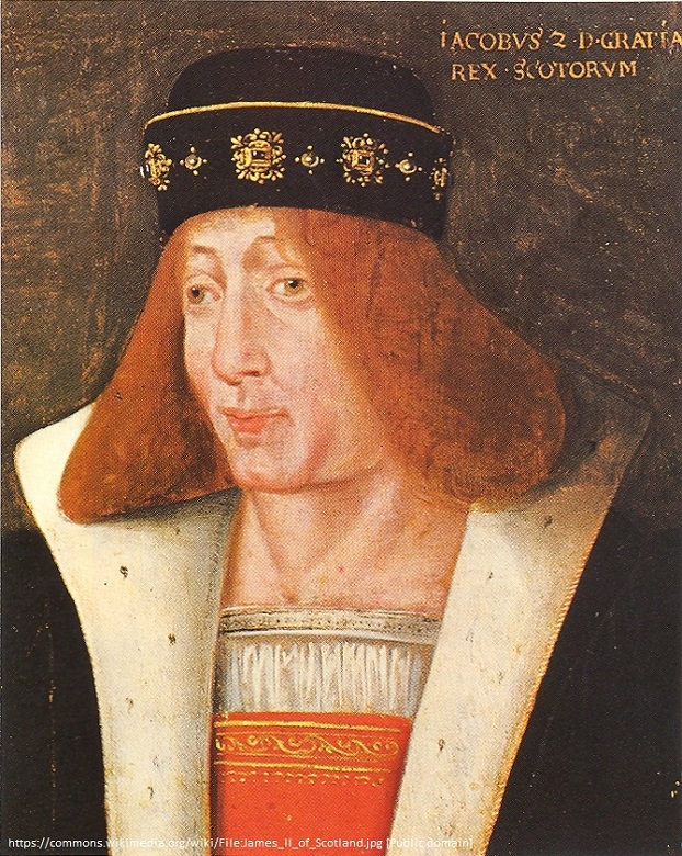 A portarit of King James II of Scotland showing his red hair