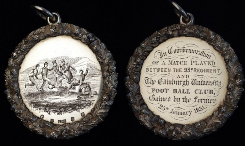 two football medals